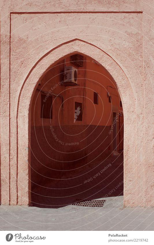 #A# Orientalisches Tor Kunst Kunstwerk ästhetisch Arabien Naher und Mittlerer Osten Marokko Marrakesch Farbfoto Gedeckte Farben Außenaufnahme Detailaufnahme