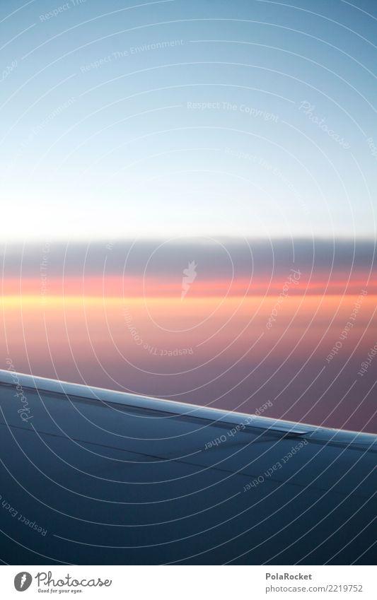 #A# back home Himmel Himmel (Jenseits) Ferne Kunst ästhetisch hoch Flugzeug Tragfläche Fernweh Höhe himmelwärts