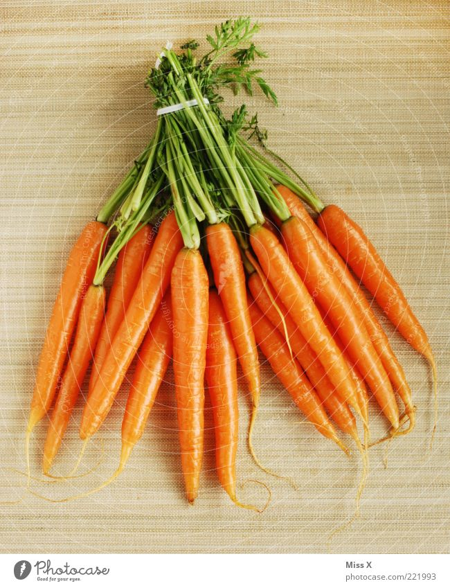 Bund fürs Leben Ernährung orange Lebensmittel frisch Gemüse lecker Diät Bioprodukte mehrfarbig Möhre Bündel Wurzelgemüse knackig Vegetarische Ernährung