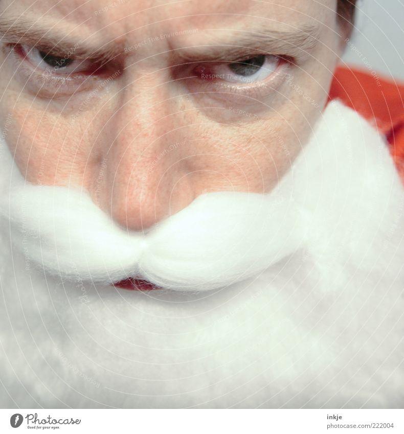 Seid ihr auch wirklich immer brav gewesen......? Weihnachten & Advent Gesicht Leben Gefühle Stimmung Kindheit Feste & Feiern Kindheitserinnerung Anti-Weihnachten Weihnachtsmann Wut Bart böse Kontrolle Tradition Erwartung