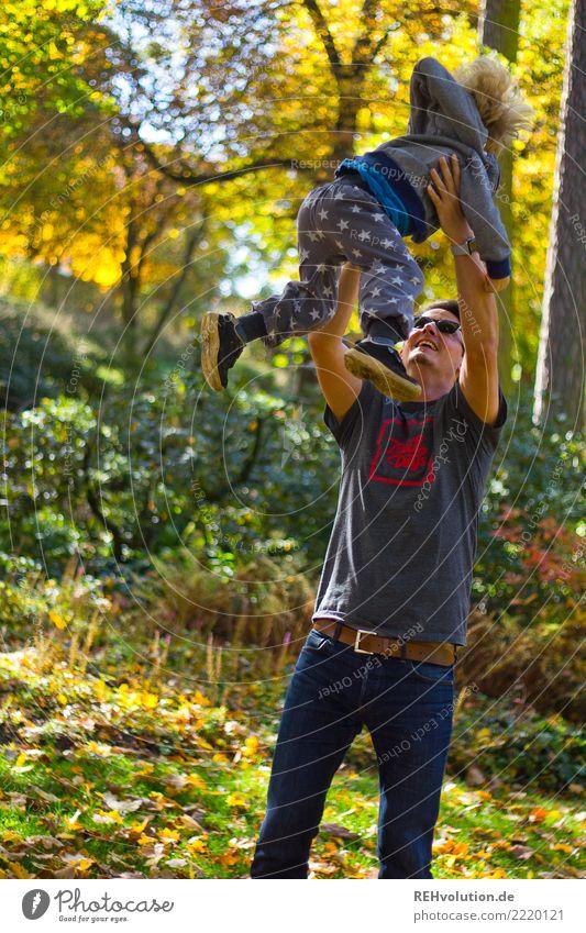Hebrst 2017 Mensch Natur Jugendliche Mann Junger Mann Baum Freude Erwachsene Umwelt Herbst lustig Bewegung Familie & Verwandtschaft Glück Zusammensein Ausflug