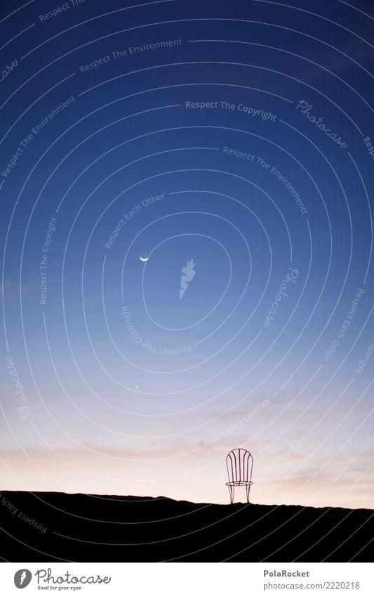 #A# Mondschein gechairt Himmel Kunst ästhetisch fantastisch Stuhl Wüste Surrealismus Kunstwerk Marokko Sahara 1001
