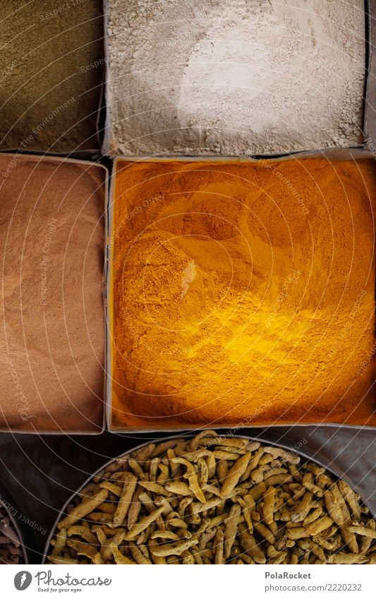#A# Würze Kunst ästhetisch Kräuter & Gewürze Curry Marokko Arabien Naher und Mittlerer Osten Orientalische Küche viele Scharfer Geschmack Farbfoto