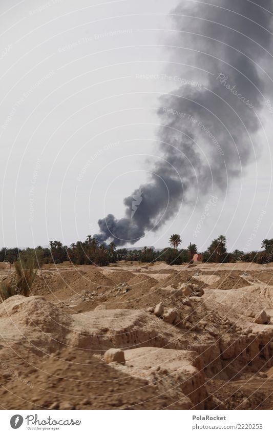 #A# WE ARE AT WAR Kunst ästhetisch Krieg Kriegsschauplatz Rauch Zerstörung Terror Terrorismus Terroranschlag Terrorgefahr brennen Irak Syrien Wüste Farbfoto