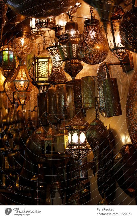 #A# Lampenladen Metall Kitsch Lampenlicht Lampengeschäft Arabien Naher und Mittlerer Osten Marokko Farbfoto Gedeckte Farben Innenaufnahme Detailaufnahme Muster