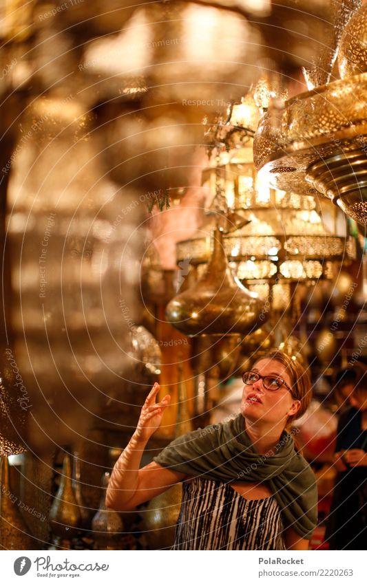 #A# Moroccan Lights Kunst ästhetisch Marokko Lampe Licht viele leuchten fantastisch 1001 Arabien Naher und Mittlerer Osten Sehenswürdigkeit Frau Blick Farbfoto