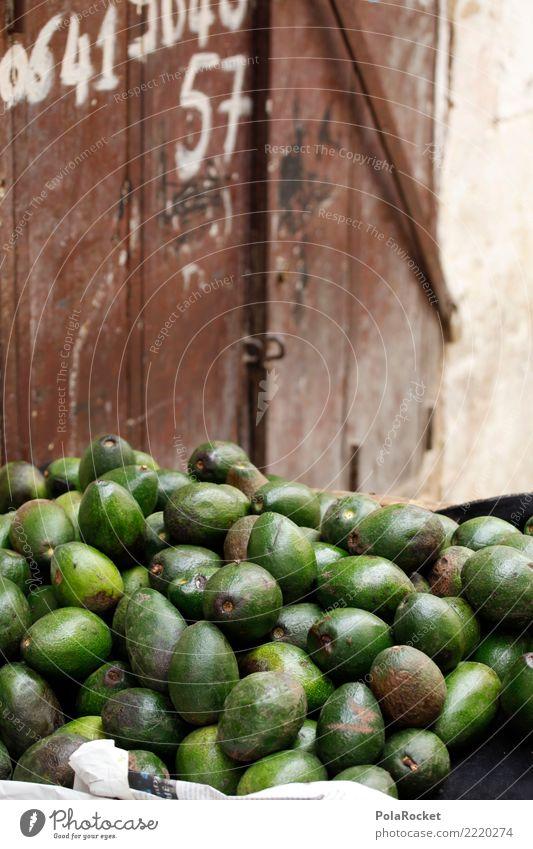 #A# Avocado-Stand Gesunde Ernährung grün Lebensmittel ästhetisch viele Marokko Marktstand Marrakesch Markttag