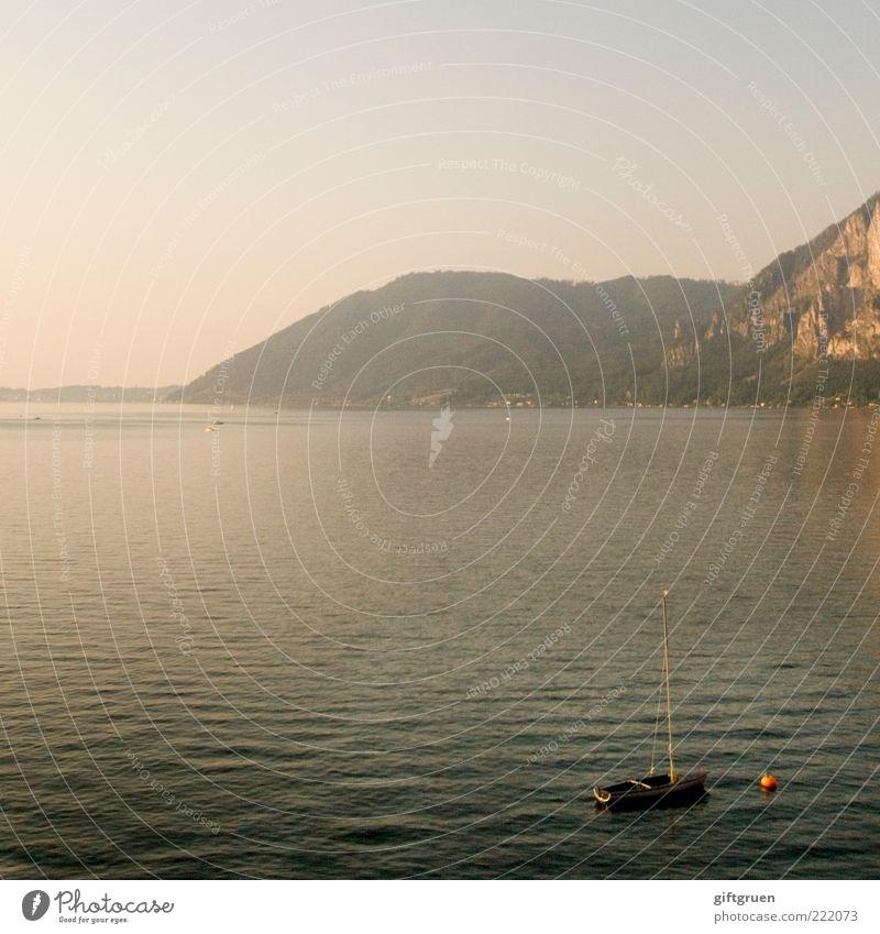 sommerabend Natur Wasser Himmel Sommer ruhig Berge u. Gebirge See Landschaft Wellen Umwelt Felsen Hügel Aussicht Urelemente Seeufer Österreich