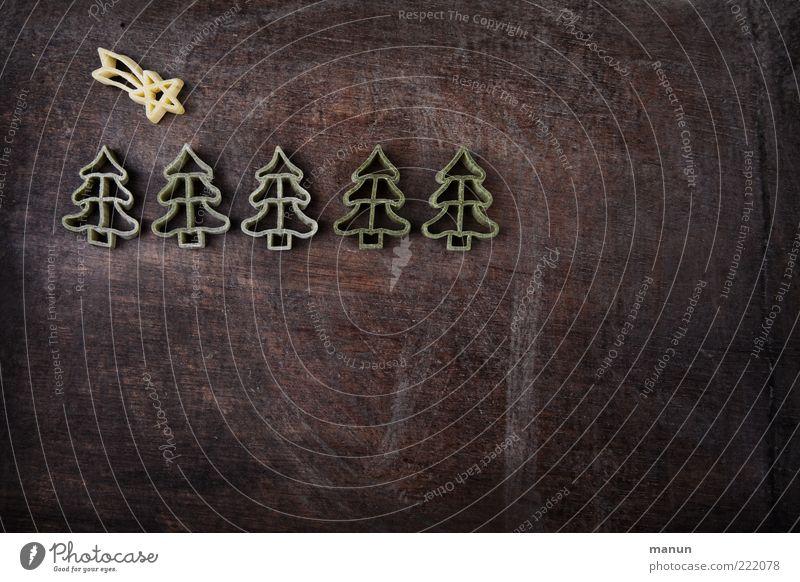 Nudel-Komet Weihnachten & Advent Ernährung Feste & Feiern Lebensmittel Stern (Symbol) authentisch einfach Weihnachtsbaum natürlich Appetit & Hunger trocken