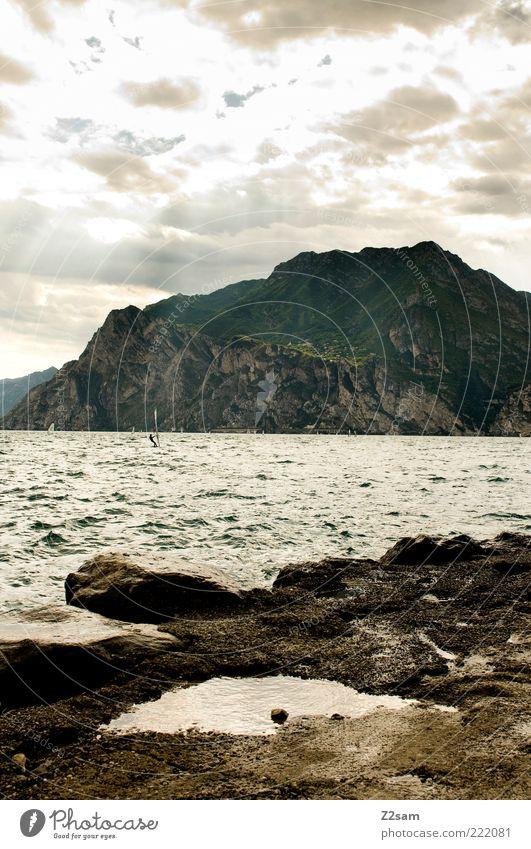 mei wars da schön Natur Wasser Ferien & Urlaub & Reisen Sommer ruhig Erholung dunkel Umwelt Landschaft Berge u. Gebirge Stein See Wellen Kraft ästhetisch
