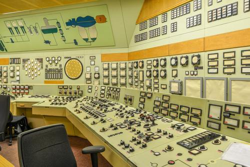 akw 2 Tastatur Energiewirtschaft Kernkraftwerk Industrie Industrieanlage Fabrik Macht Farbfoto Innenaufnahme Zentralperspektive