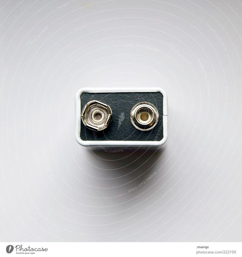 Plusminus weiß Energie Elektrizität Technik & Technologie rund positiv Anschluss eckig Batterie negativ Freisteller Vogelperspektive Physik Sondermüll