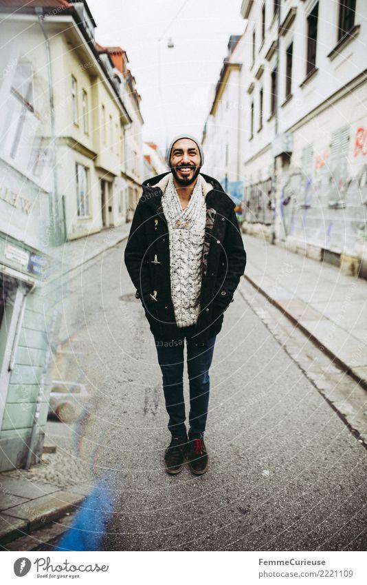 Urban young man (05) Mensch Jugendliche Mann Stadt Junger Mann 18-30 Jahre Erwachsene Lifestyle Stil lachen Mode Stadtleben maskulin Lächeln Fröhlichkeit