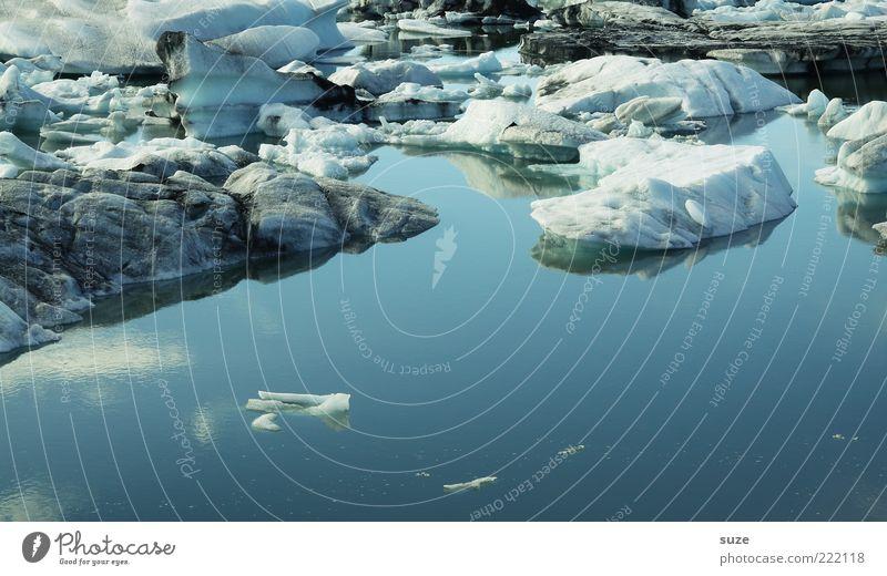 Eis für Pontchen Natur blau Wasser Landschaft Umwelt kalt Eis außergewöhnlich Klima Schönes Wetter Klarheit fantastisch Im Wasser treiben Island Wasseroberfläche Klimawandel