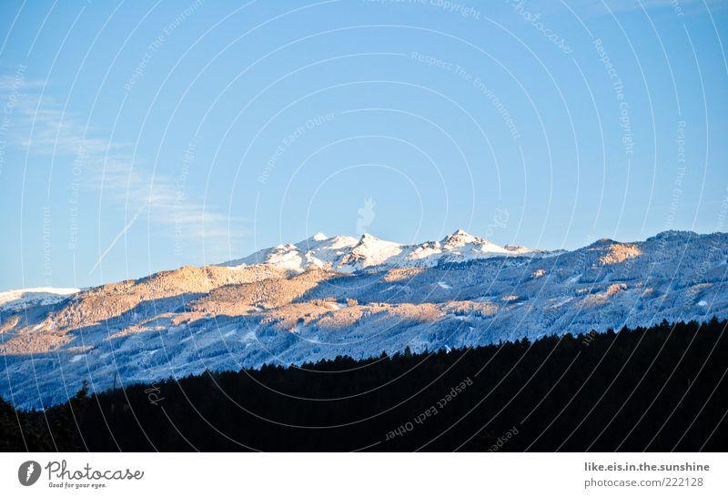 SCHNEEwittchen war da! :) Natur Himmel Baum blau Winter Ferien & Urlaub & Reisen Ferne Wald kalt Schnee Berge u. Gebirge Freiheit Landschaft Wetter Ausflug Alpen