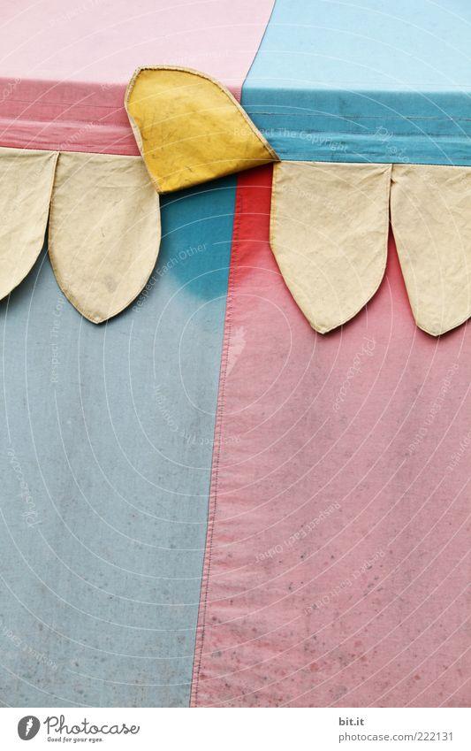 SONNENWENDE alt blau Sommer rot gelb außergewöhnlich Linie Dekoration & Verzierung nass einzigartig Streifen Symbole & Metaphern Kitsch Stoff Geometrie feucht