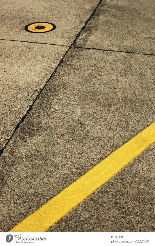 Surface | Arbitrary geometry Farbe gelb Wege & Pfade grau Linie Design Verkehr Ordnung Luftverkehr Schilder & Markierungen Perspektive Kreis rund Sicherheit Boden Punkt