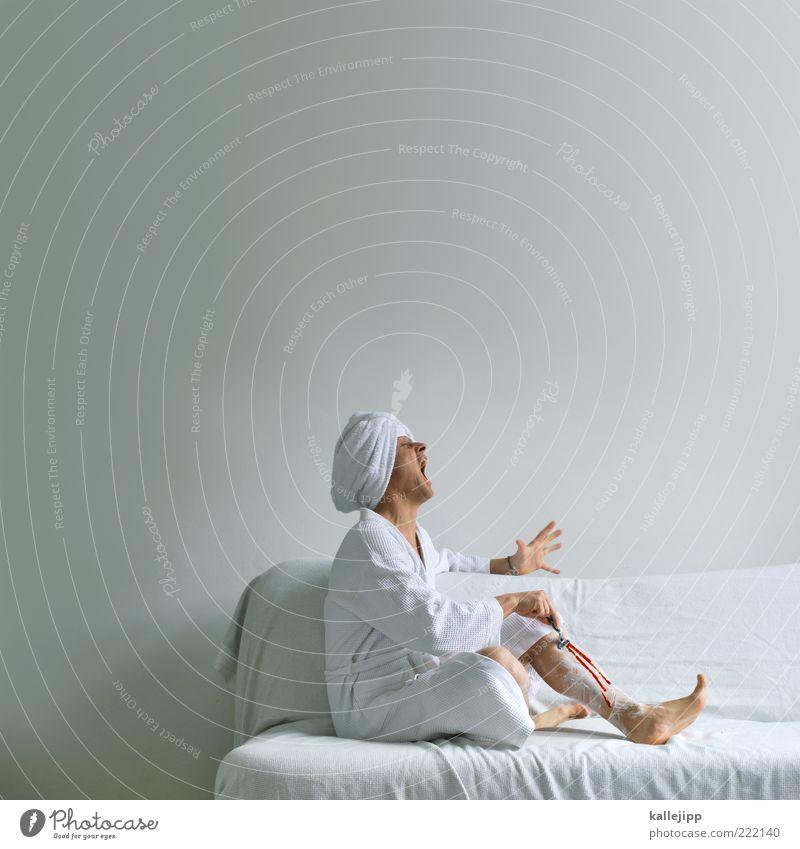 der letzte schliff Mensch Mann schön Erwachsene feminin Haare & Frisuren Beine maskulin Reinigen Wellness Sofa schreien Kosmetik Schmerz Körperpflege