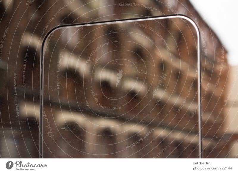 Goerz Haus Wand Fenster Mauer Metall braun Fassade Fabrik Furche Industrieanlage Blech Öffnung Glasscheibe Gebäude Reflexion & Spiegelung Klappe