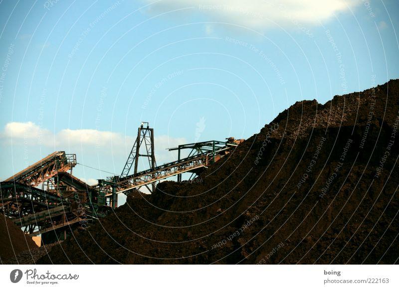 Erdbewegungsspielplatz Sand Wachstum Güterverkehr & Logistik Baustelle Material Kies Trennung Industrieanlage Bergbau Kohle Maschine Braunkohlentagebau