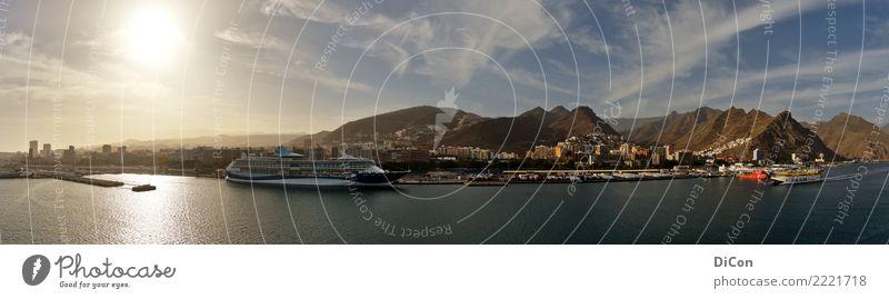 Santa Cruz de Tenerife Ferien & Urlaub & Reisen Tourismus Sommerurlaub Wasser Küste Santa Cruz de Teneriffa Kreuzfahrt Kreuzfahrtschiff Fernweh Kanaren Farbfoto