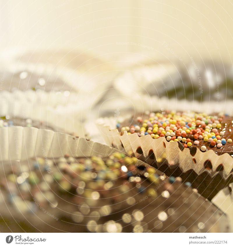 ausstand Lebensmittel Teigwaren Backwaren Süßwaren Muffin Ernährung Kaffeetrinken lecker süß braun weiß Zuckerstreusel Streusel Kindergeburtstag Feste & Feiern