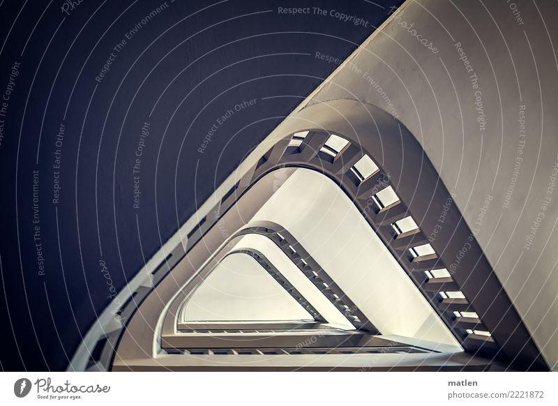 Schlagseite Stadt Menschenleer Haus Bauwerk Architektur Mauer Wand Treppe alt blau grau schwarz weiß Treppenhaus Geländer Farbfoto Gedeckte Farben Innenaufnahme