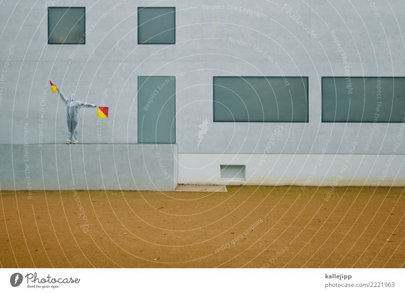 Y Mensch rot Fenster Architektur gelb Gebäude grau Wasserfahrzeug modern Kommunizieren Telekommunikation stehen Beton Buchstaben planen Information