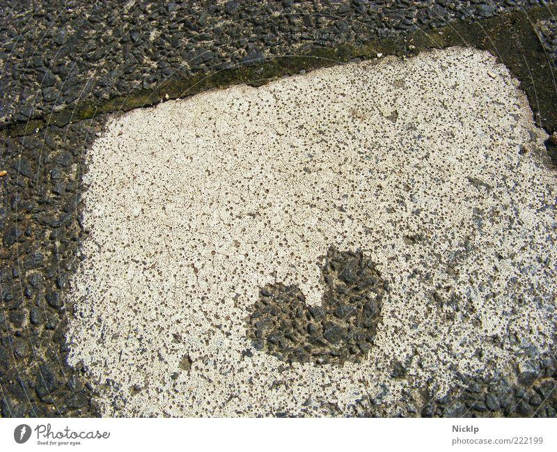 <3 weiß schön Liebe Glück grau Herz Kunst klein Romantik authentisch außergewöhnlich Bürgersteig Pflastersteine Straßenkunst Wege & Pfade
