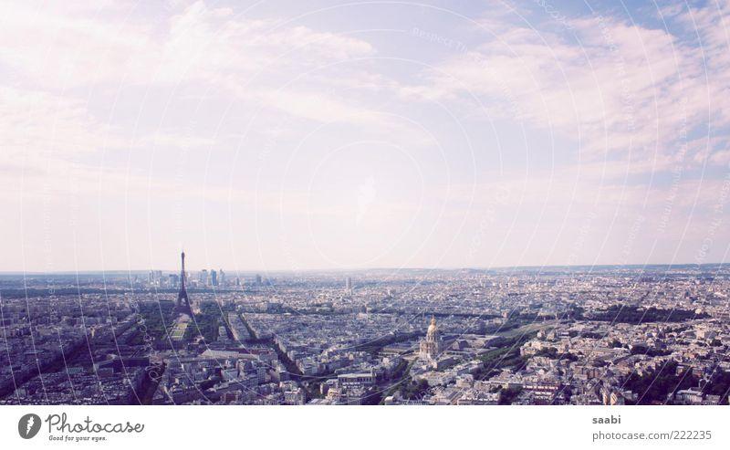 Leichtigkeit des Seins Sehenswürdigkeit Tour d'Eiffel Lebensfreude Freiheit Ferne Farbfoto Außenaufnahme Tag Panorama (Aussicht) Stadt Paris Luftaufnahme