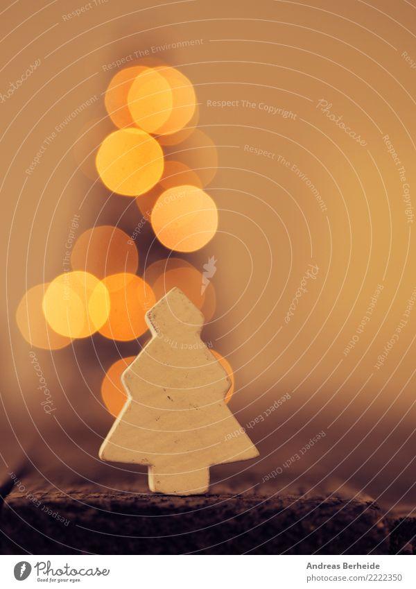 Holzbäumchen Weihnachten & Advent schön Winter Liebe Stil Feste & Feiern retro Dekoration & Verzierung Weihnachtsbaum altehrwürdig Lichterkette
