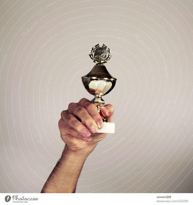 Platzhalter. Gold Erfolg Ziel festhalten Symbole & Metaphern Sport Sportveranstaltung Karriere Pokal erste Stolz zeigen Konkurrenz Leistung zielstrebig