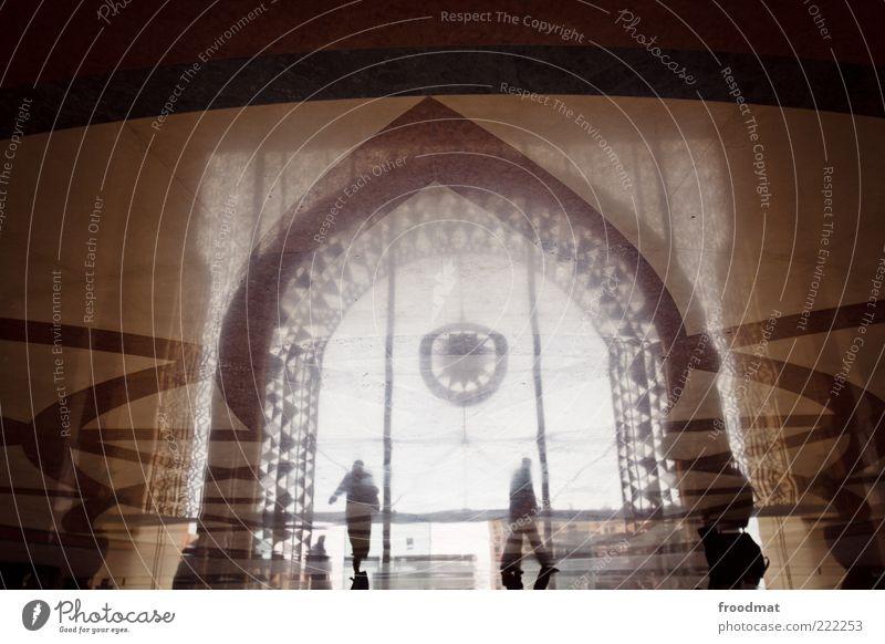 marrakesch Mensch Ferien & Urlaub & Reisen Architektur Kunst braun elegant Tourismus außergewöhnlich Bodenbelag Bauwerk Kitsch geheimnisvoll Reichtum Bahnhof