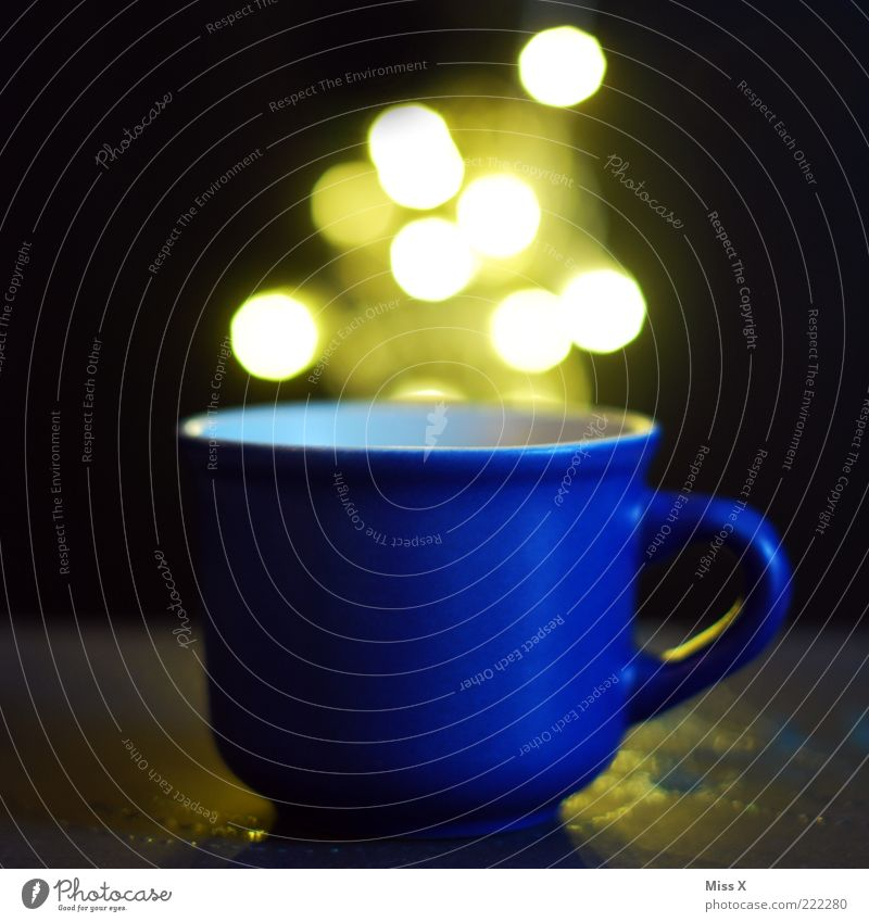 Volle Berechnung blau hell glänzend Getränk leuchten Tasse Zauberei u. Magie Becher Behälter u. Gefäße Tragegriff