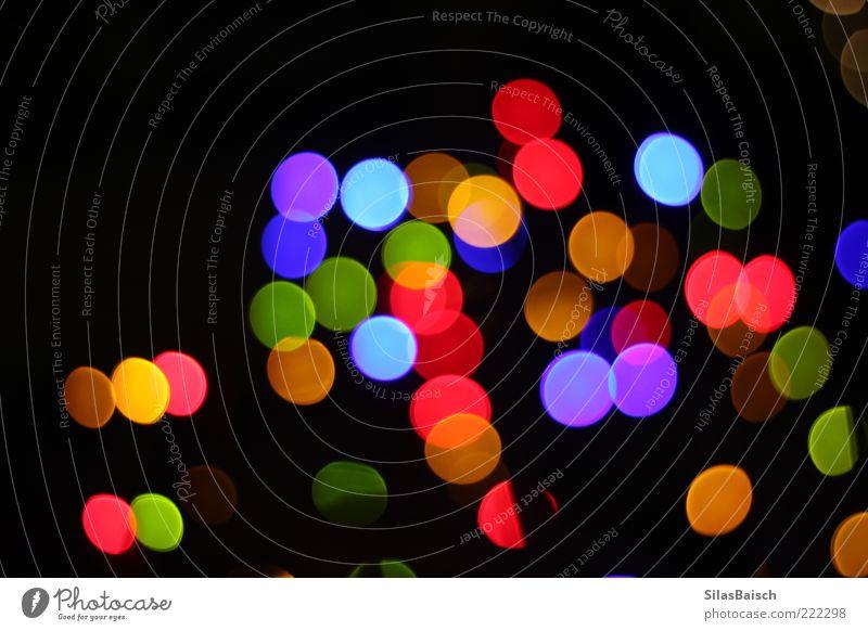 Bunte Lampenwelt dunkel Gefühle hell Kunst glänzend Design modern rund einzigartig außergewöhnlich leuchten trendy Textfreiraum Lichterkette Blendenfleck