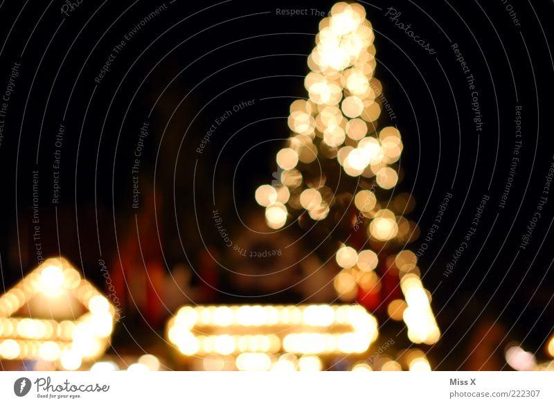 Ulmer Weihnachtsmarkt leuchten Marktstand Platz Weihnachtsbaum Weihnachten & Advent Farbfoto mehrfarbig Außenaufnahme Muster Menschenleer Nacht Kunstlicht Licht