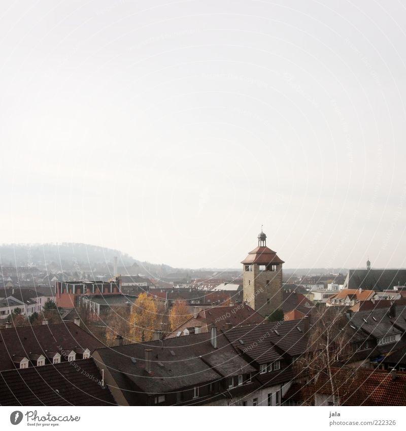 übers städtle gucken Himmel Stadt Haus Gebäude Architektur trist Kirche Aussicht Dach Turm Bauwerk