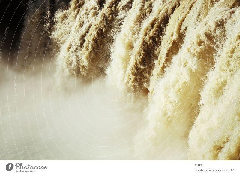 Berauschend Natur Wasser Landschaft Umwelt braun außergewöhnlich wild nass Urelemente Fluss tief Island Dunst Wasserfall gigantisch Gischt