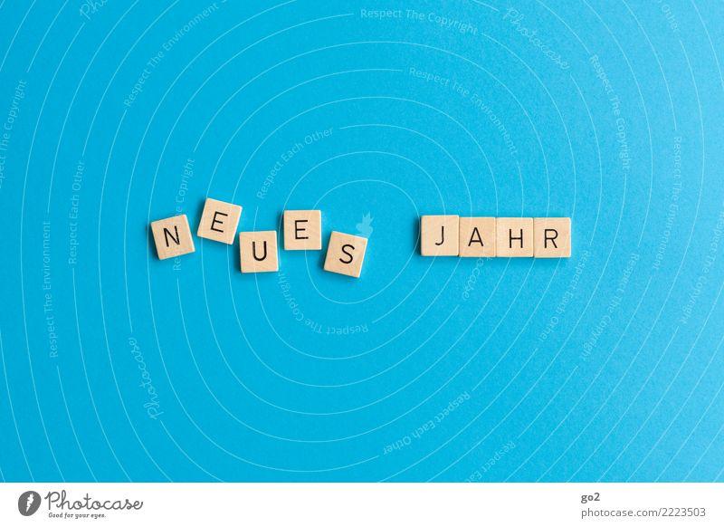 Neues Jahr Spielen Brettspiel Silvester u. Neujahr Schriftzeichen ästhetisch Fröhlichkeit neu Neugier positiv blau Freude Lebensfreude Vorfreude Optimismus