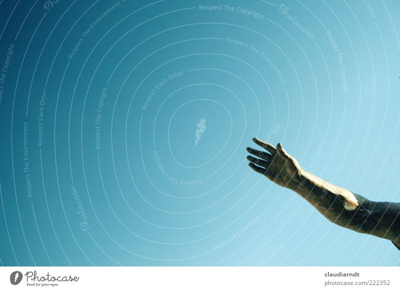 Salve! Himmel Hand Religion & Glaube Arme Finger Schutz Glaube stark Wachsamkeit Skulptur Abschied Gott Begrüßung Mensch geben Gruß