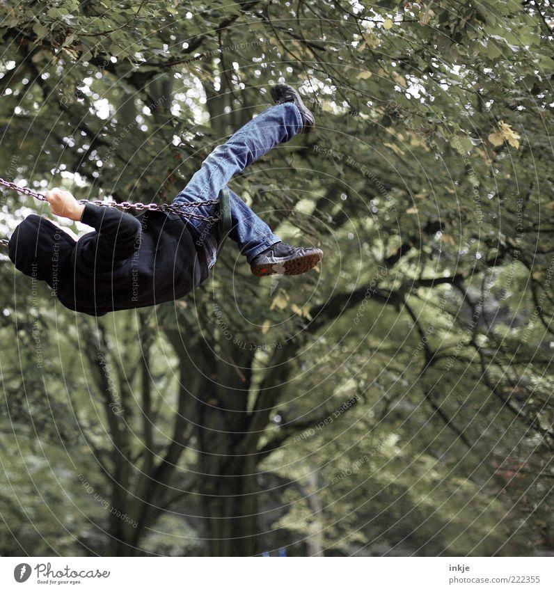 der richtige Schwung Jugendliche Freude Leben Spielen Junge Bewegung Kindheit Kraft Freizeit & Hobby Neugier Leidenschaft Lebensfreude anstrengen Schaukel