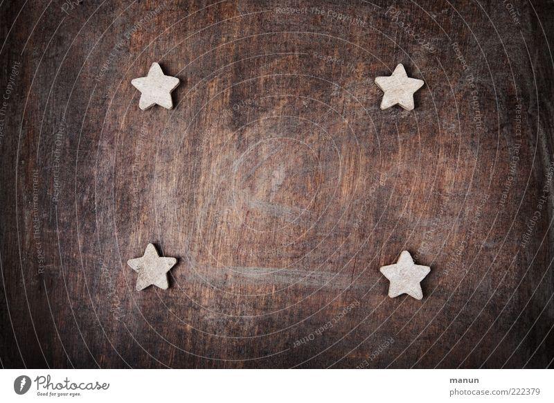 Sternbild schön natürlich Holz außergewöhnlich Feste & Feiern authentisch einfach Stern (Symbol) Zeichen Kitsch Wunsch Vorfreude Backwaren Teigwaren festlich Plätzchen