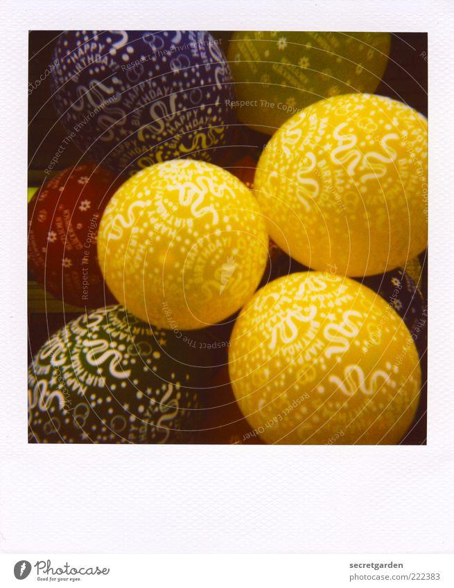 i wish you a happy birthday! Dekoration & Verzierung Kugel Fröhlichkeit rund blau gelb grün weiß Kindheit Lebensfreude Leichtigkeit Luftballon Happy Birthday 3