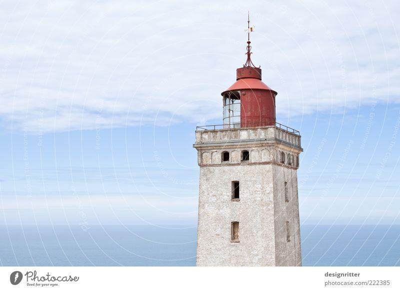 Alter Schwede, ähhh … Däne Wetter Schönes Wetter Nordsee Meer Lønstrup Dänemark Turm Leuchtturm Sehenswürdigkeit Wahrzeichen hoch stark Verantwortung achtsam