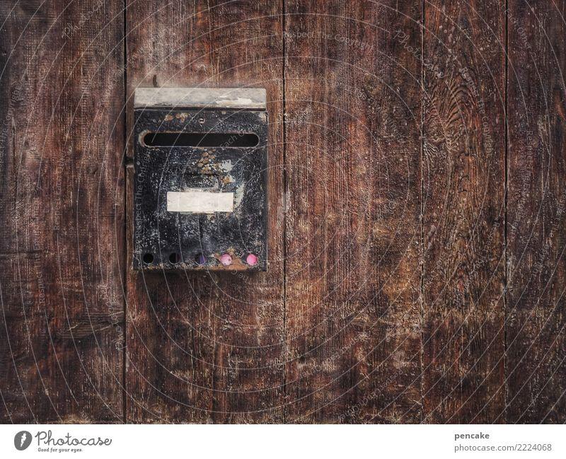 post mortem alt Stadt Traurigkeit Holz Tod braun Fassade retro leer warten historisch lesen schreiben Netzwerk Altstadt dünn