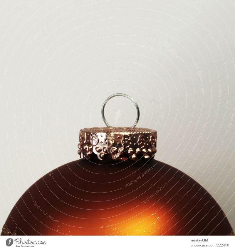 bauchig. Kunst ästhetisch Weihnachten & Advent Weihnachtsdekoration Christbaumkugel Öse Haken Baumschmuck Dekoration & Verzierung gold rot Kitsch Anschnitt