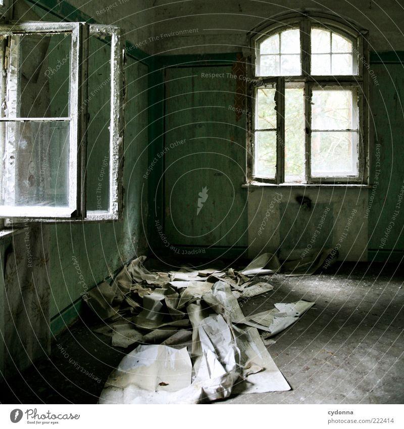 Tapetenwechsel alt ruhig Haus Einsamkeit Wand Fenster Mauer Raum Zeit Wandel & Veränderung Vergänglichkeit einzigartig geheimnisvoll verfallen Tapete Verfall