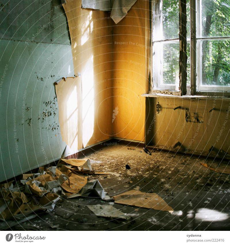 Heute so, morgen so alt ruhig Haus Wand Fenster Mauer Raum Zeit planen kaputt Wandel & Veränderung Vergänglichkeit einzigartig verfallen Tapete Verfall