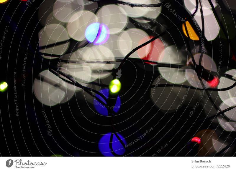 Lichtspiel verrückt rund Dekoration & Verzierung leuchten Lichtpunkt Lichterkette Lichtfleck Unschärfe