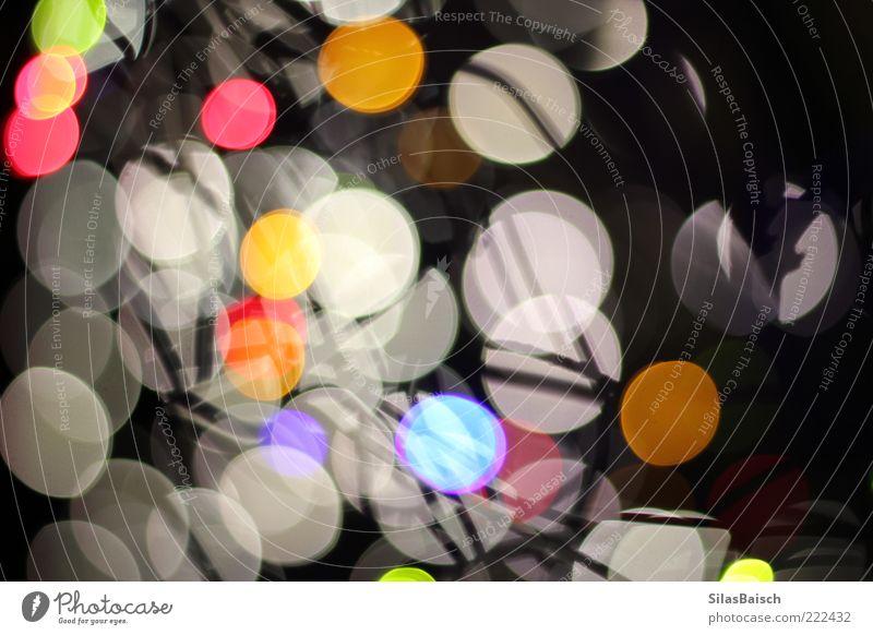 Dancing Lights Dekoration & Verzierung Kunst Lampe Lichterkette Lichtpunkt leuchten hell verrückt Farbfoto mehrfarbig Kontrast Reflexion & Spiegelung